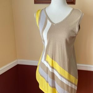 Cupio asymmetrical v neck tank top size large
